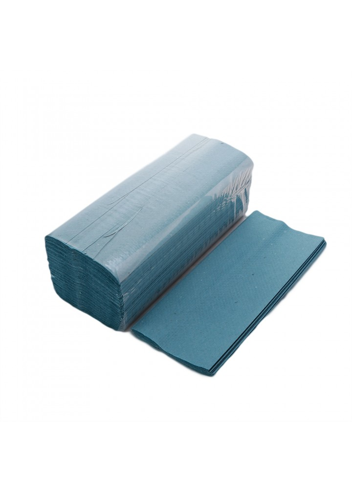 1 Ply 'C' Fold Blue Hand Towels (330 x 230mm)