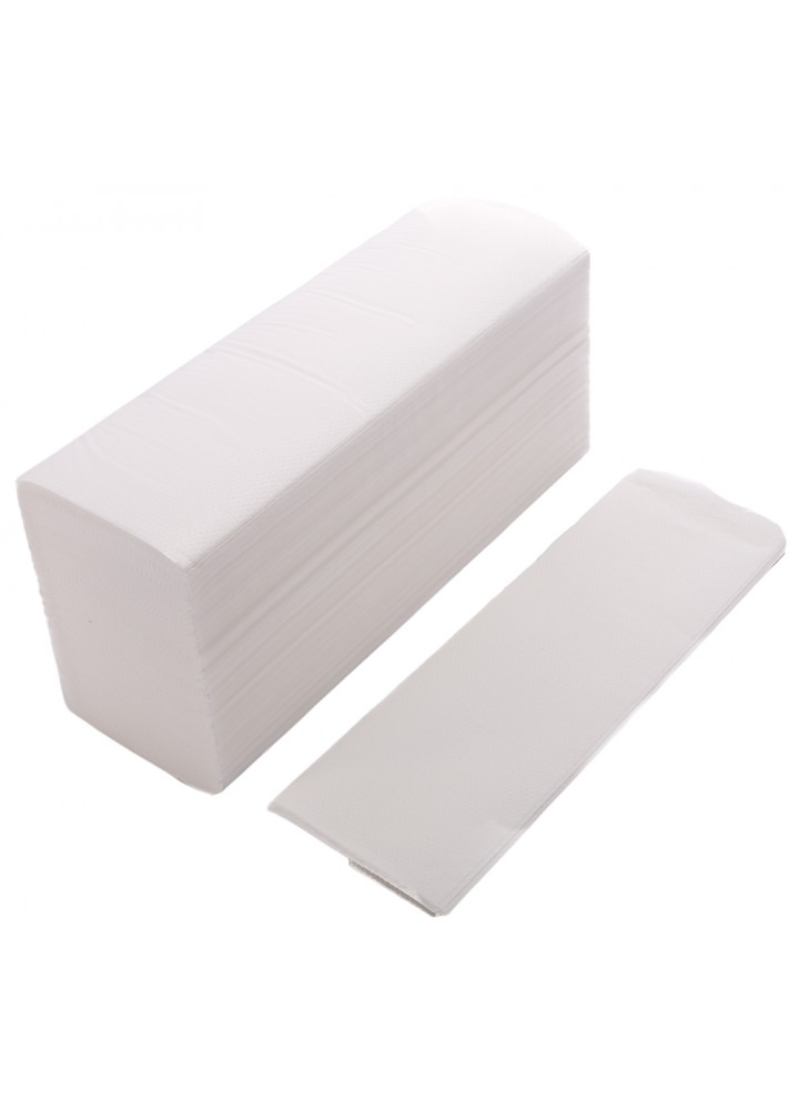 'Z' Fold 2 Ply White Hand Towels