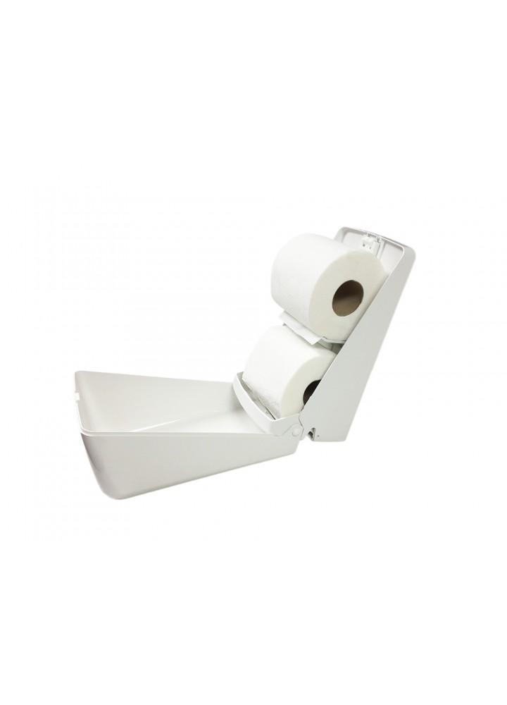 Double Stacker System White Standard Toilet Roll Dispenser