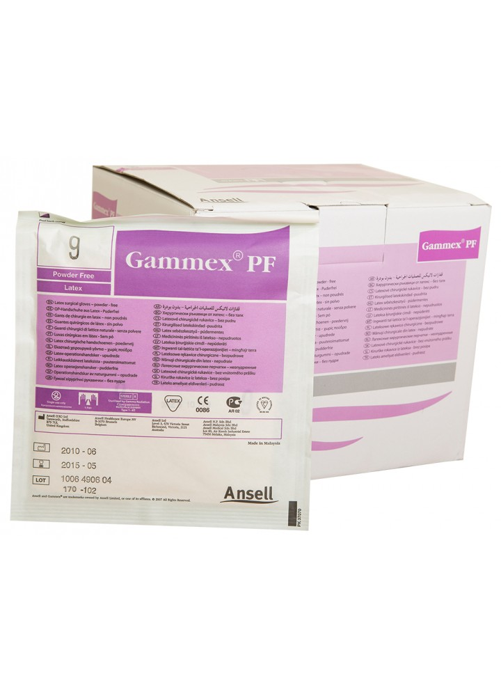 Sterile Gammex  Powder Free Latex Surgical Gloves Size 9.0