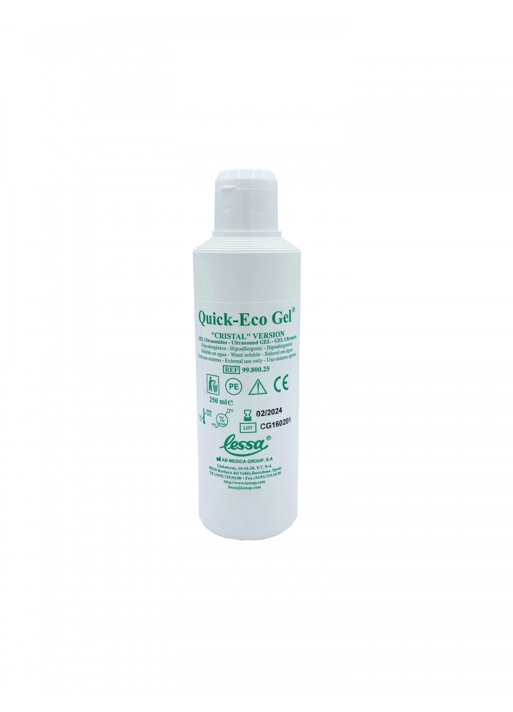 """Ultrasound Quick Eco Gel """"Cristal"""" Clear Version (250ml)"""