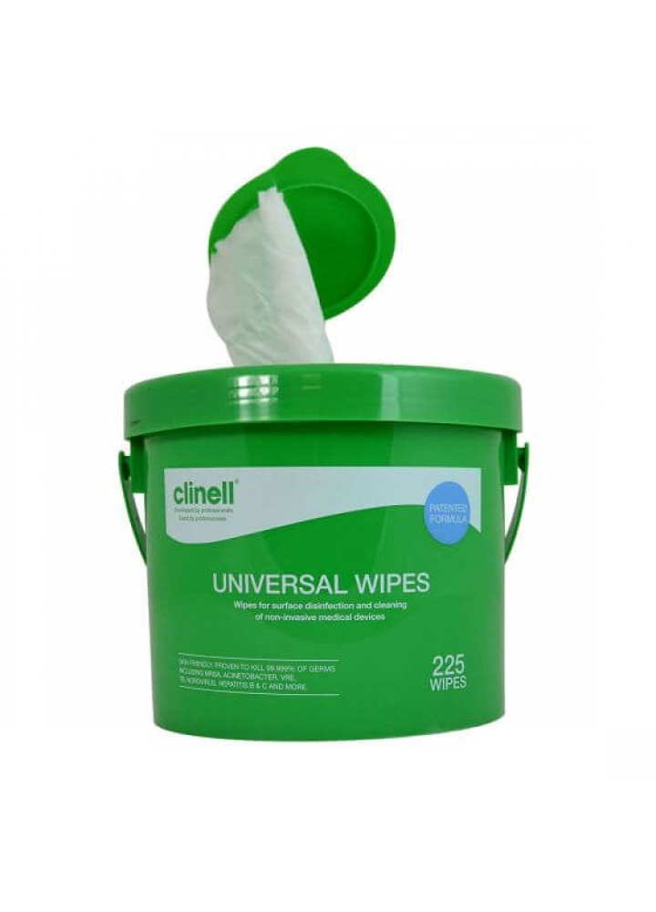 Clinell Universal Sanitising Wipes Pail