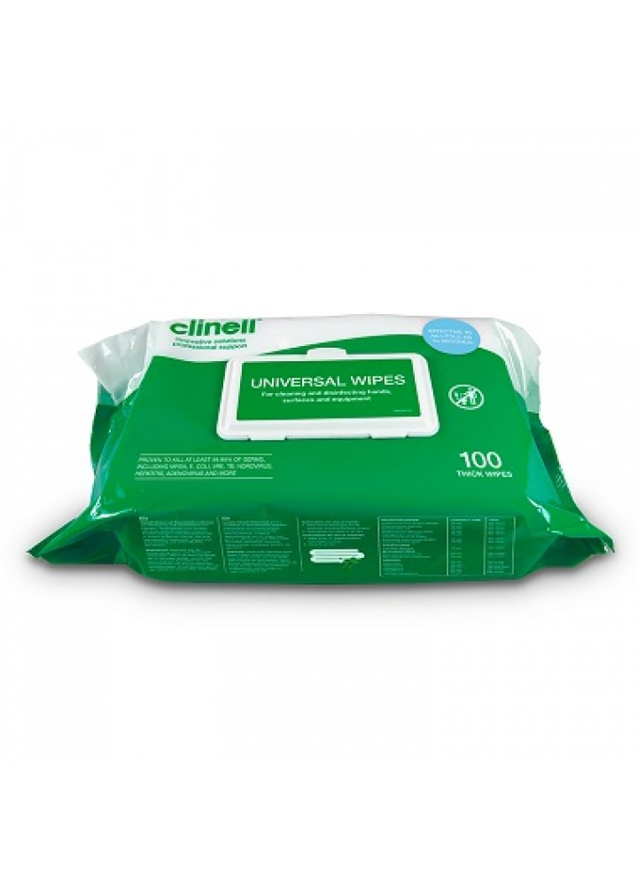 Clinell Universal Sanitising Wipes 100 Pack