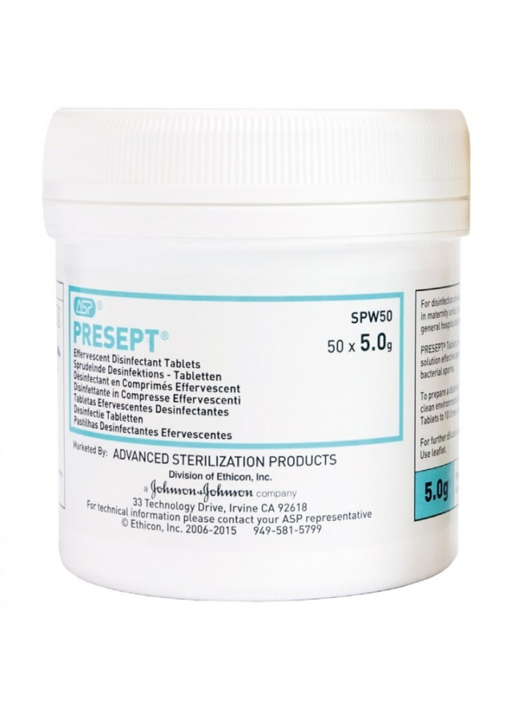 Presept Disinfectant Tablets 2.5g