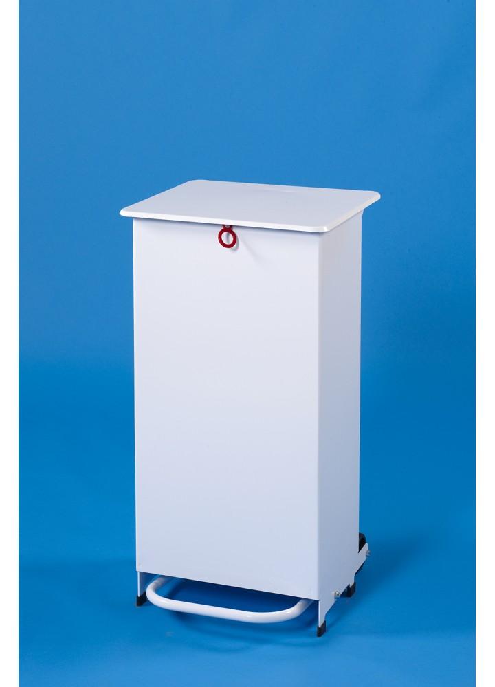 EHP Clinical Waste Sack Holder 50 Litre Orange Lid  - Pedal & Hand Opening