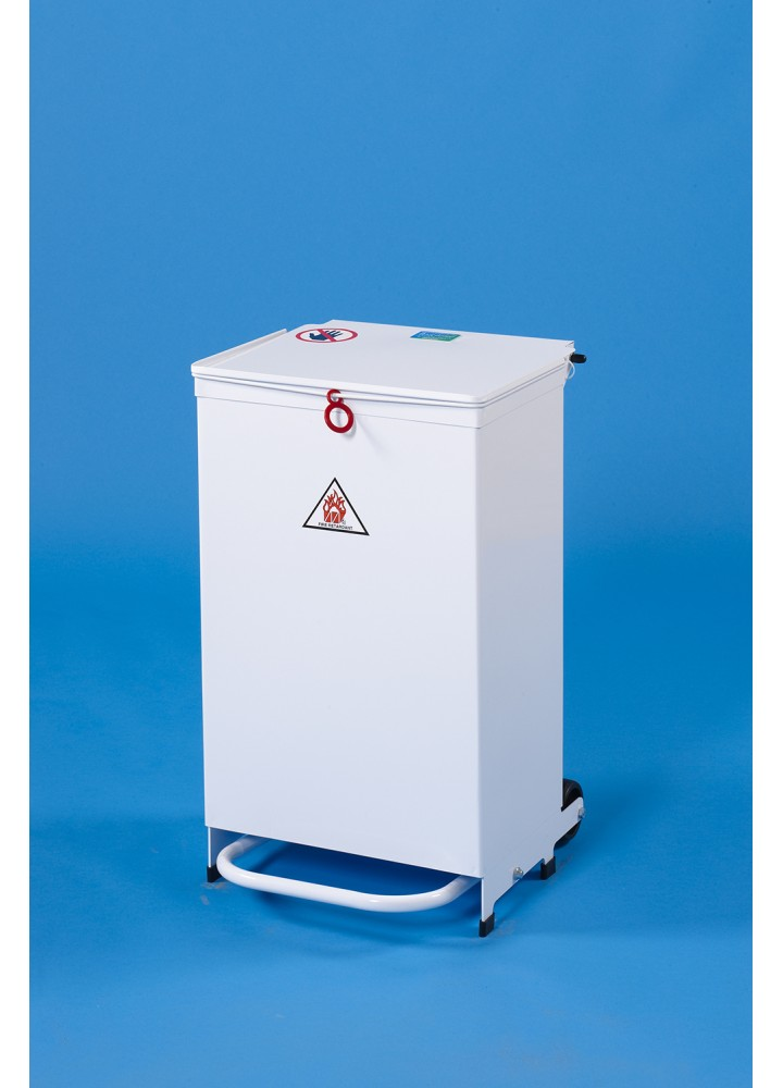 EHP Clinical Waste Sack Holder 50 Litre Orange Lid - Pedal Only Opening