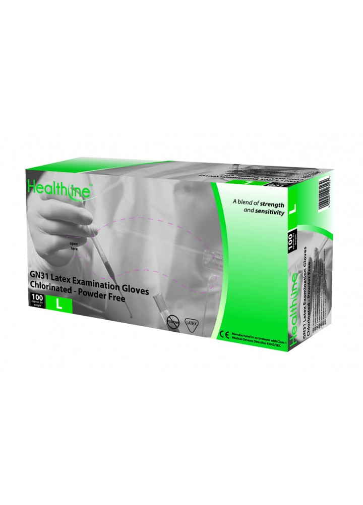 Healthline Latex Powder Free Examination Gloves