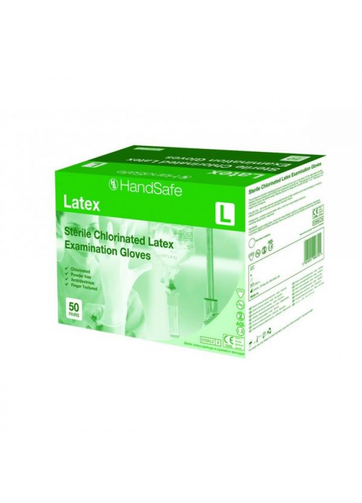 Healthline Sterile Latex Powder Free Examination Gloves