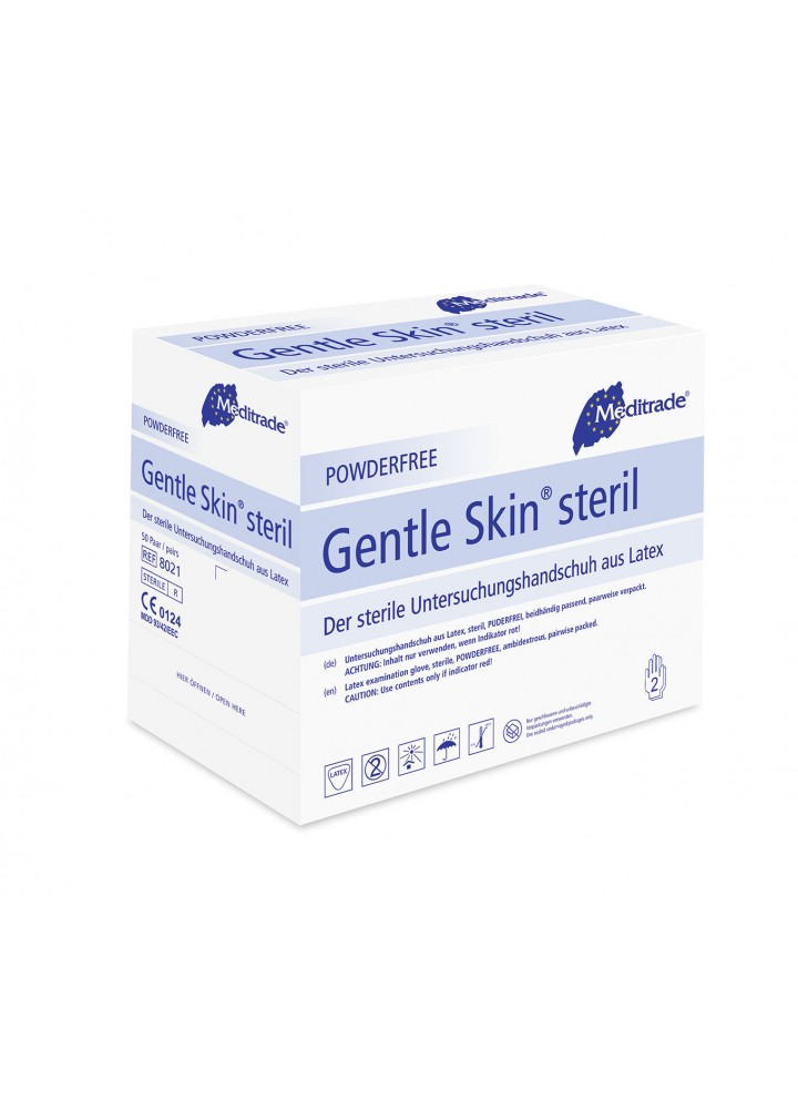 Meditrade Gentle Skin Sterile Latex Examination Gloves
