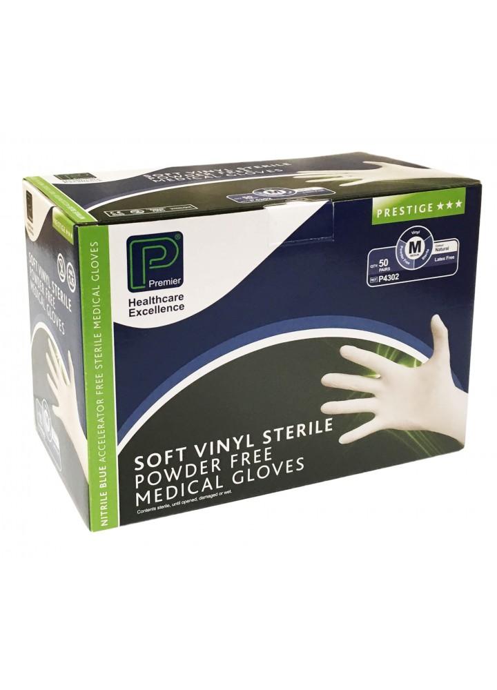 Premier Sterile Vinyl Powder Free Examination Gloves