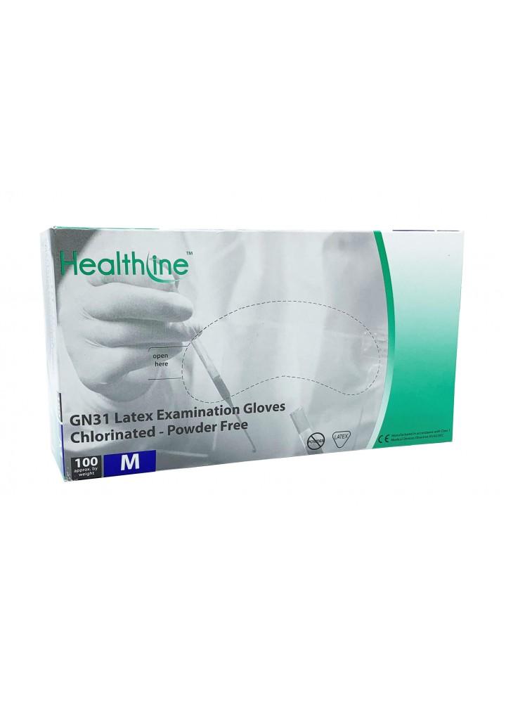 Healthline Latex Powder Free Examination Gloves