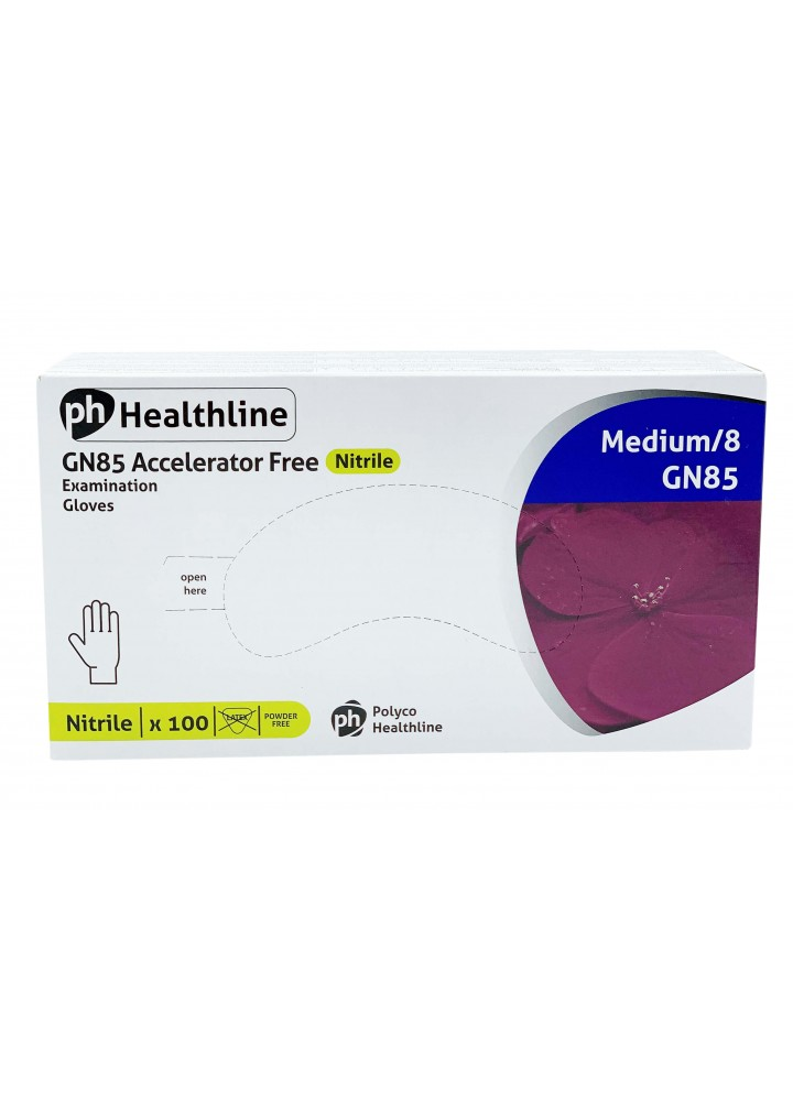 Healthline Violet Nitrile Powder Free Examination Gloves