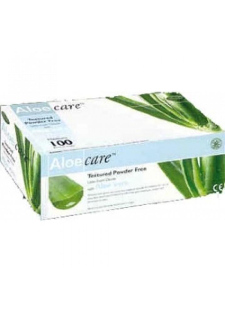 Meditrade Aloecare Latex Powder Free Examination Gloves