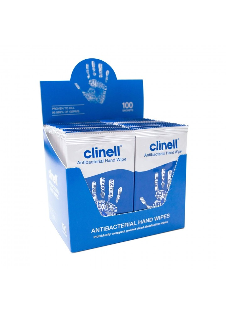 Clinell Antimicrobial Hand Wipes 100 Pack
