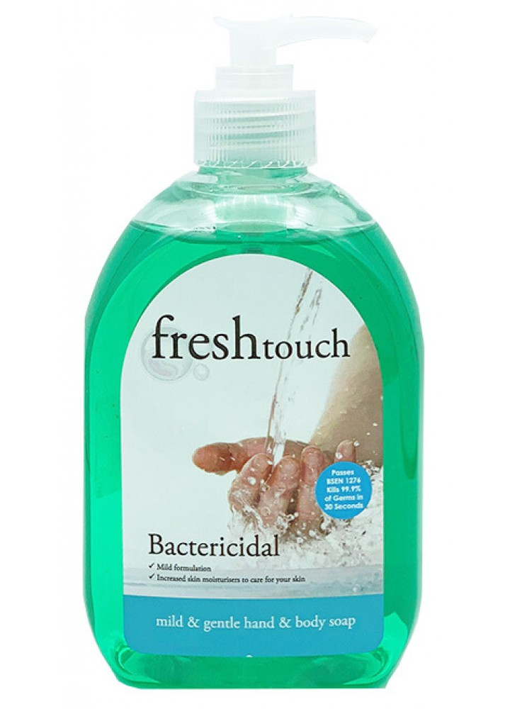 Bactericidal Hand Soap 500ml with Pump Dispenser 6/Pack