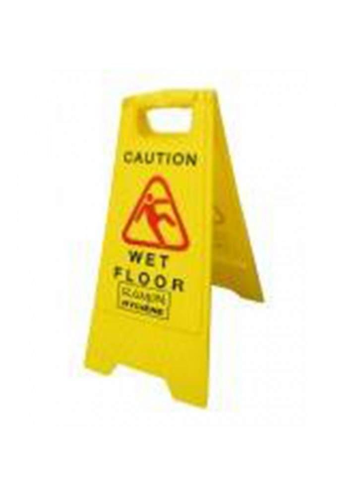 Yellow 'A' Frame Wet Floor Sign