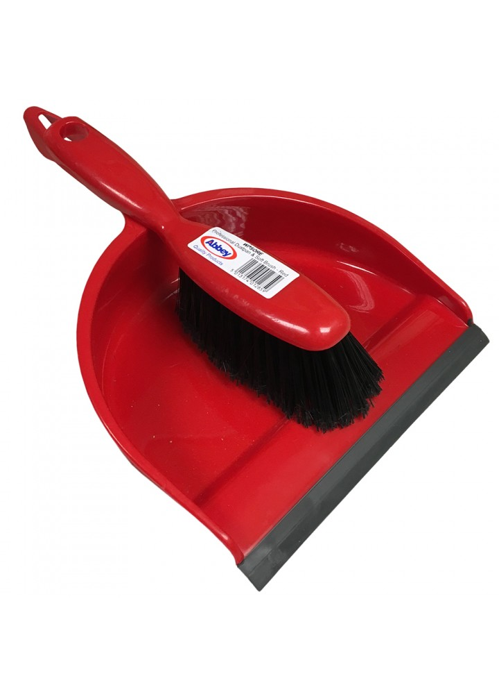 Dustpan & Brush Red