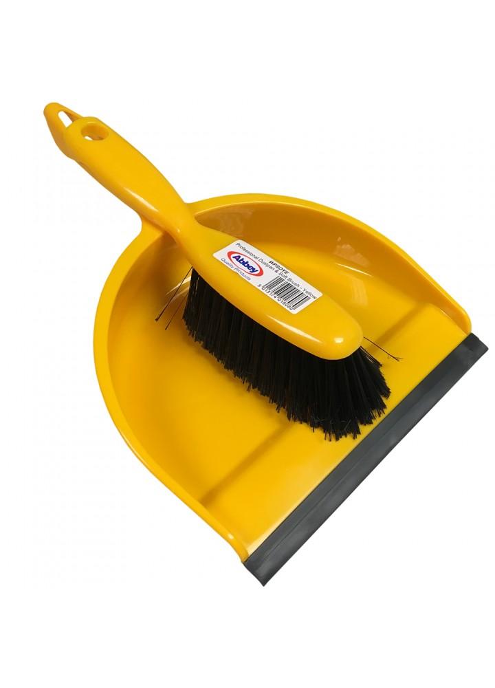Dustpan & Brush Yellow