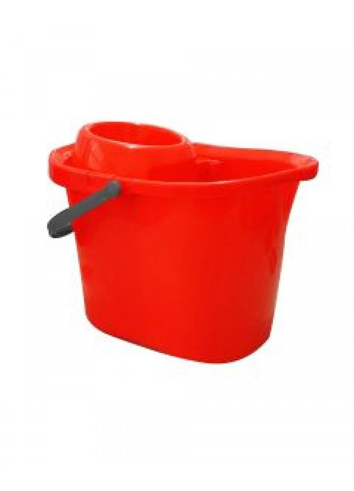 Plastic Mop Bucket Red