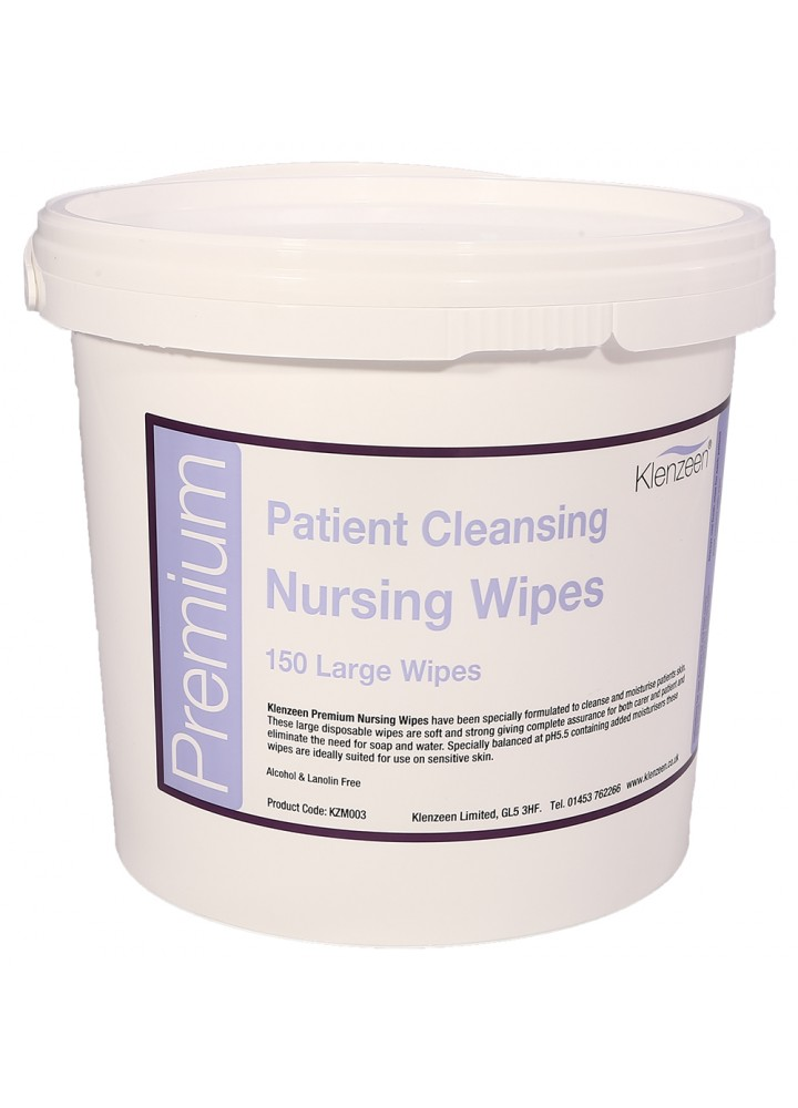 Patient Moist Cleansing Wipes Pail