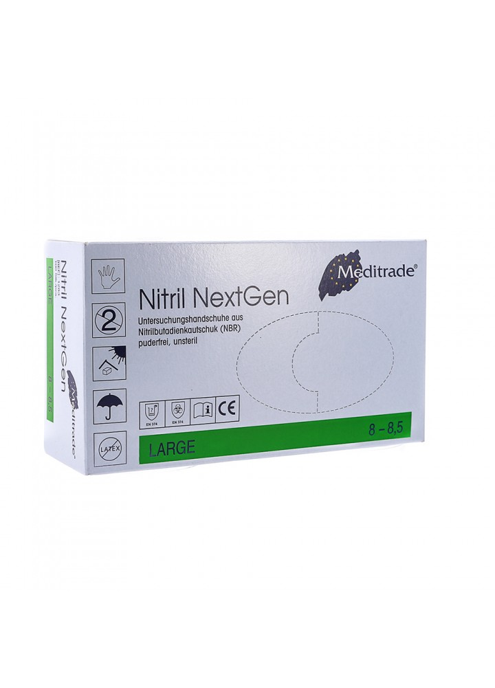 Meditrade Next Gen Blue Nitrile X-Long Cuff Large