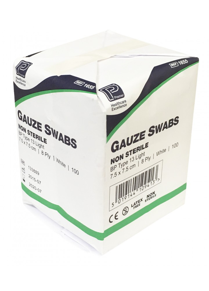 Premier Gauze Swabs Non-Sterile 10 x 10cm