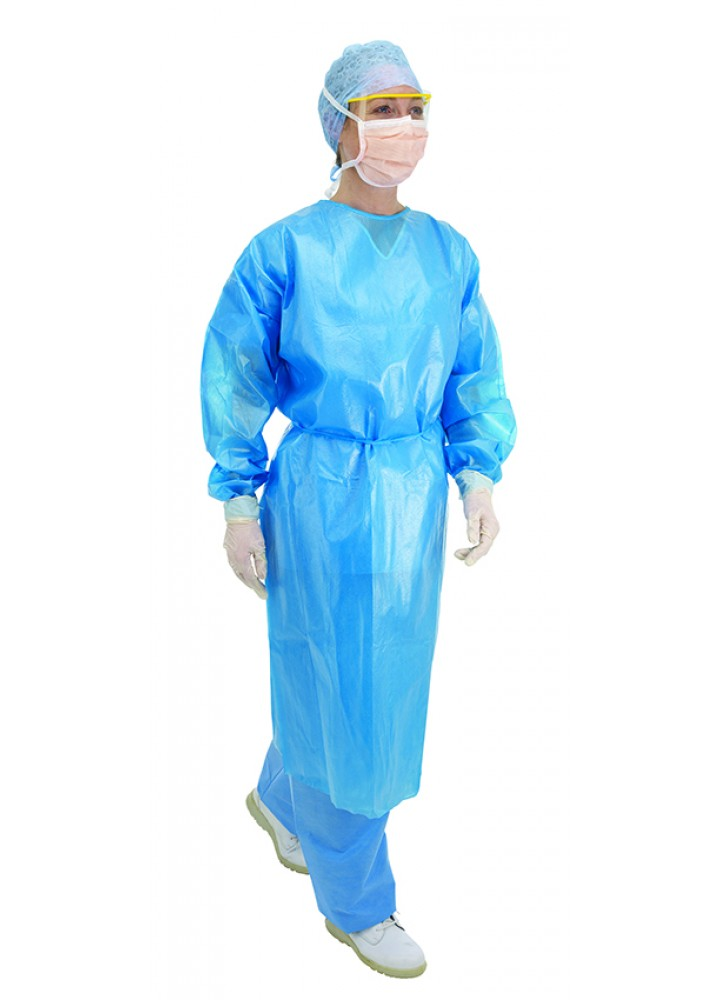 Gown Fluid Protection Blue Long Sleeve UNAVAILABLE