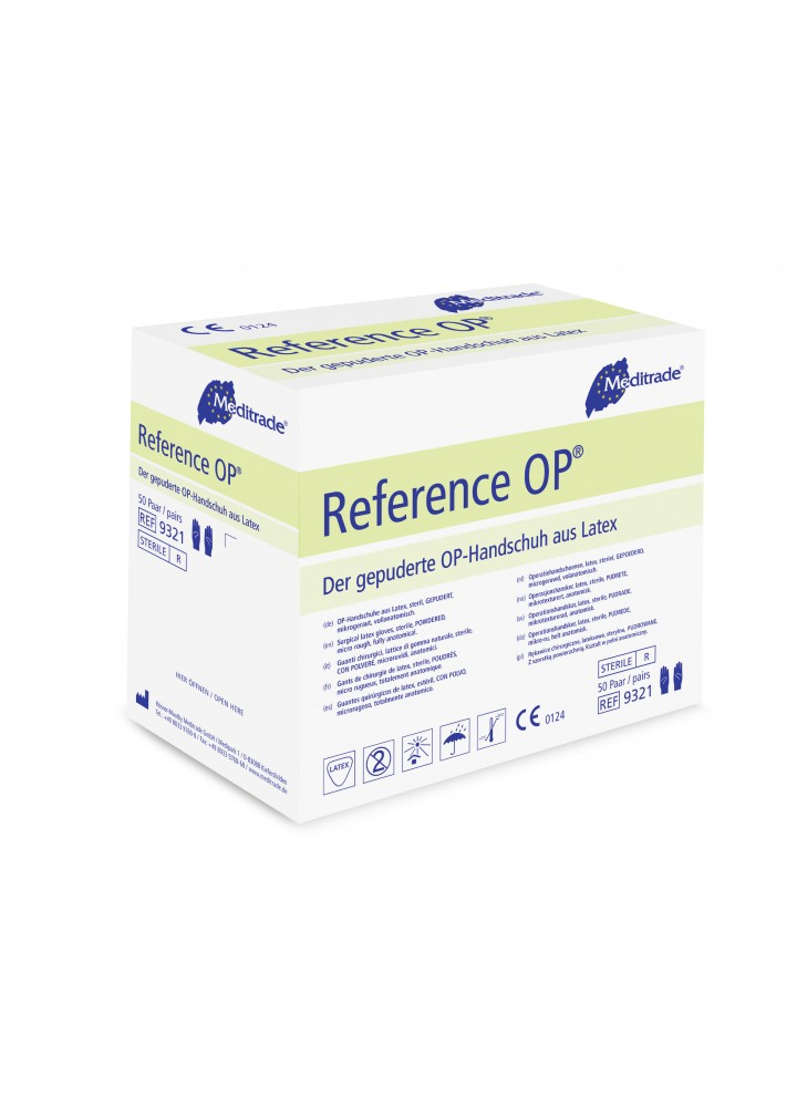 Reference OP Latex Lightly Powdered Sterile Surgical Gloves