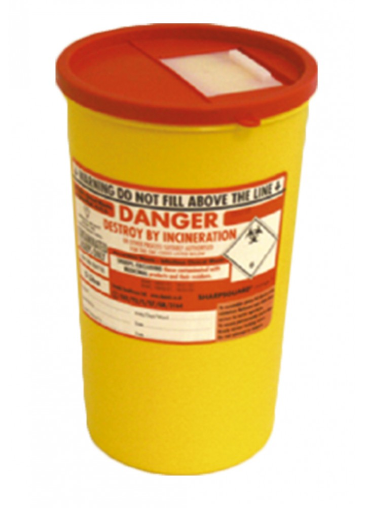 Sharps Bin Orange Lid 7 Litre