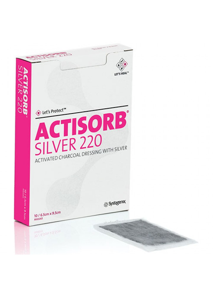 Actisorb Silver Dressing 6.5 x 9.5cm