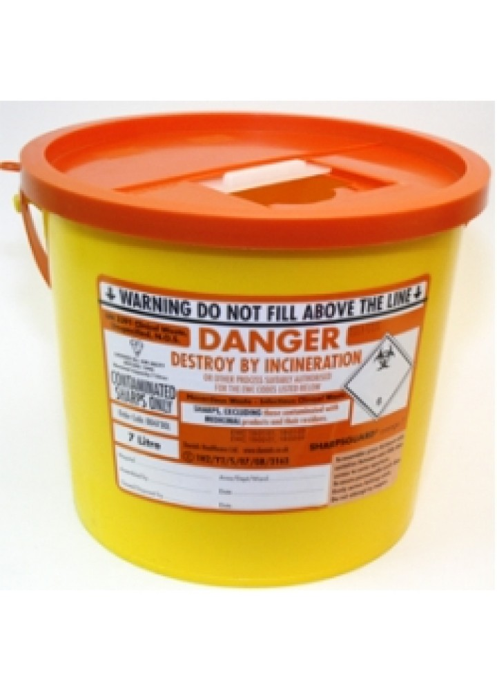 Sharps Bin Orange Lid 11.5 Litre