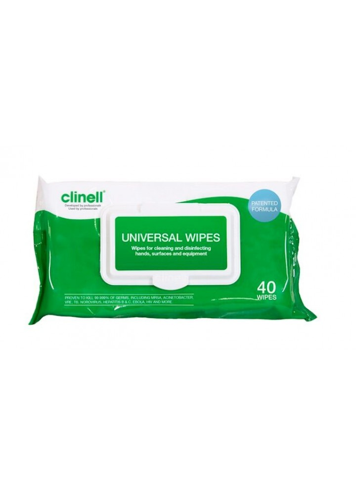 Clinell Universal Sanitising Wipes 40 Pack
