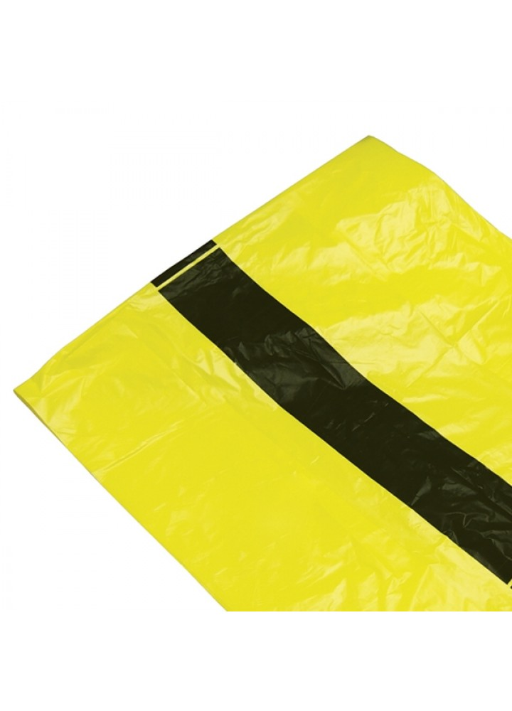 Clinical Waste Sack Tiger Stripe 280/560x630mm